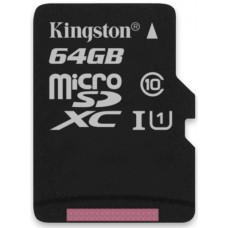 Карта памяти Kingston microSDXC 64GB Class 10 UHS-I R45/W10MB/s
